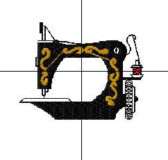 bordado computadorizado grátis de máquina de costura